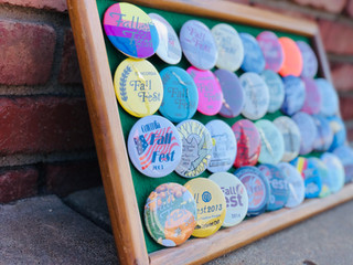 Fall Fest buttons Through the Years