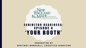 title slide for exhibitor tutorial video number 4 about booth details
