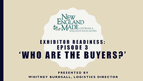title slide for exhibitor tutorial video number 3 about buyer demographics