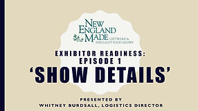 title slide for exhibitor tutorial video number 1 about show details