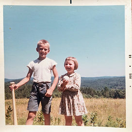 Company owners Stefa and Vitas when they were children