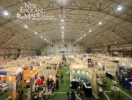 aerial shot of tradeshow floor