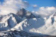 눈 덮인 산 봉우리