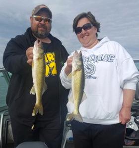 Leech Lake Walleye Double