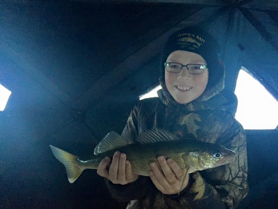 Leech Lake ice walleye