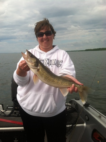 Nikki with a slot fish