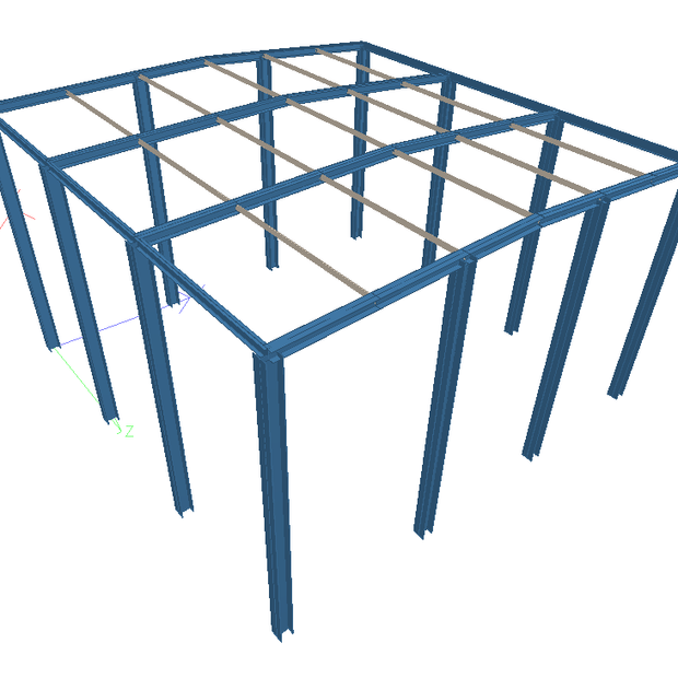 WAREHOUSE GABLE FRAME STRUCTURE
