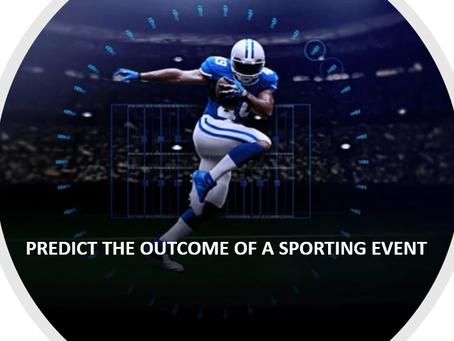 스포츠 이벤트의 결과를 예측하는 데 기계 학습을 어떻게 사용할 수 있을까?
