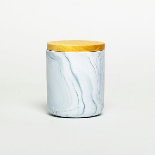 Black Porcelain Candle