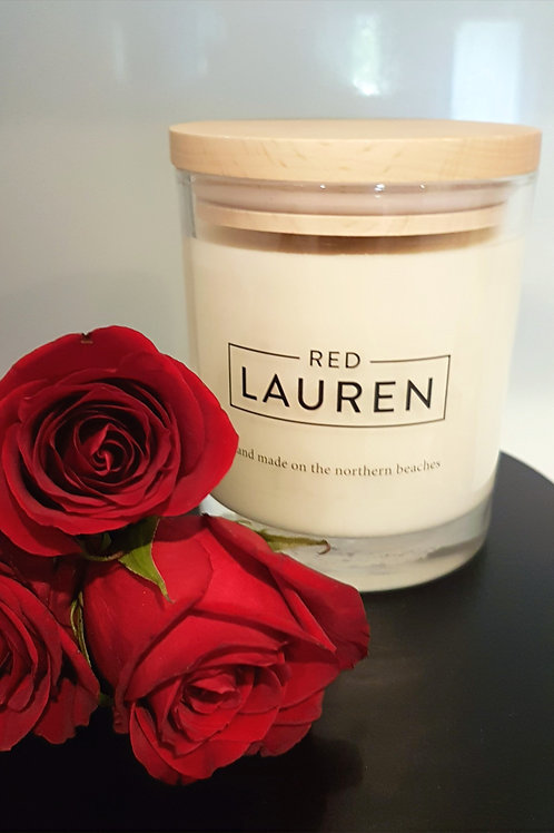 Old Red Rose Candle - Mother's Day Special