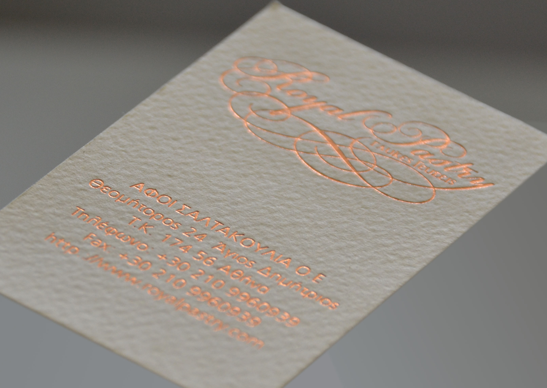 letterpress/ hotfoil stamp