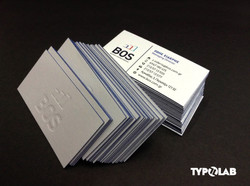 letterpress & edge painted cards
