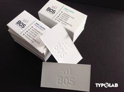 letterpress & edge painted cards