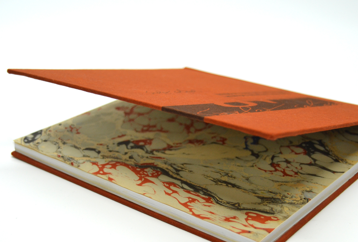 bookbinding, custom made marble