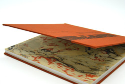 bookbinding, custom made marble