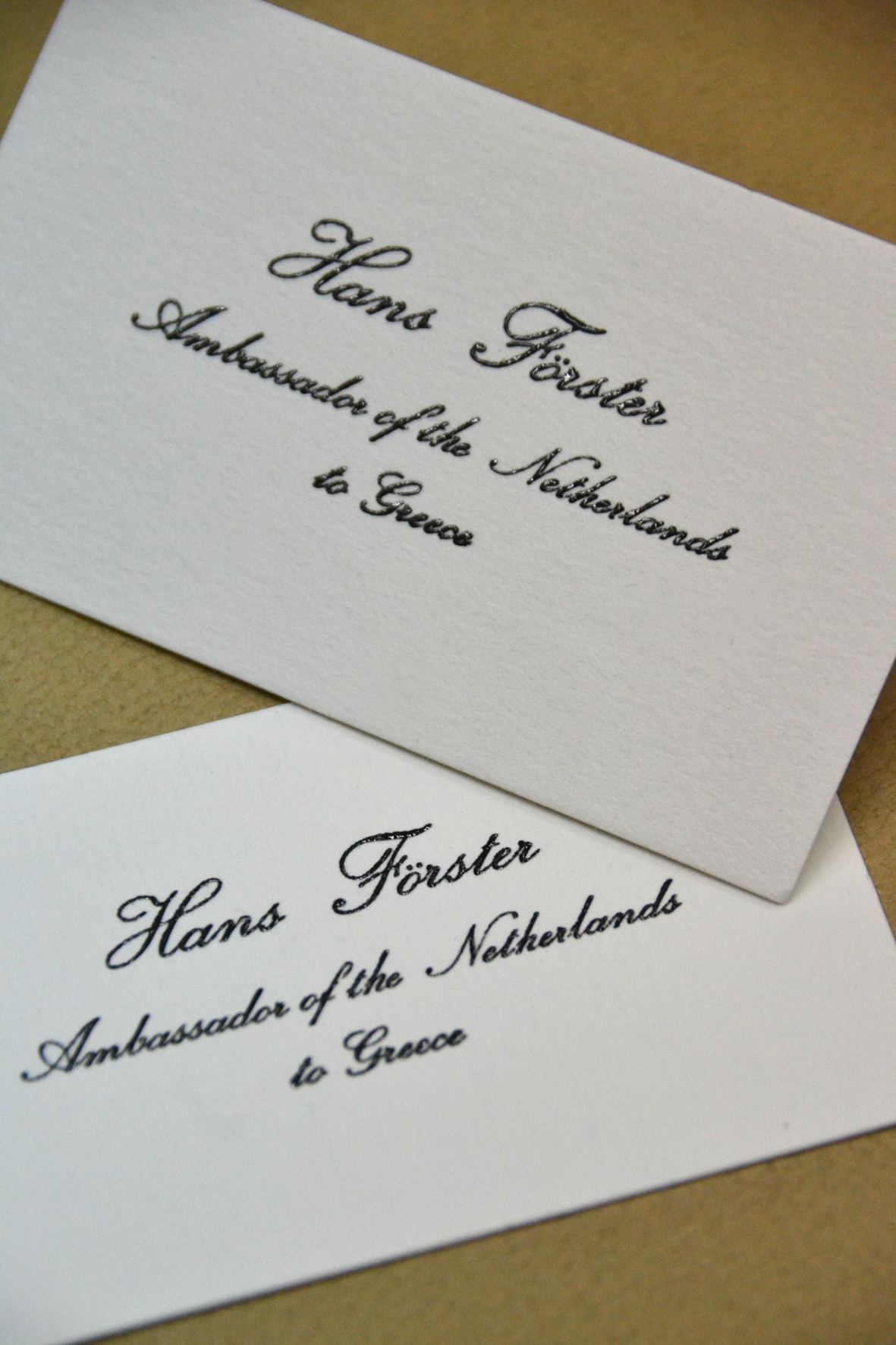 Letterpress with embossing