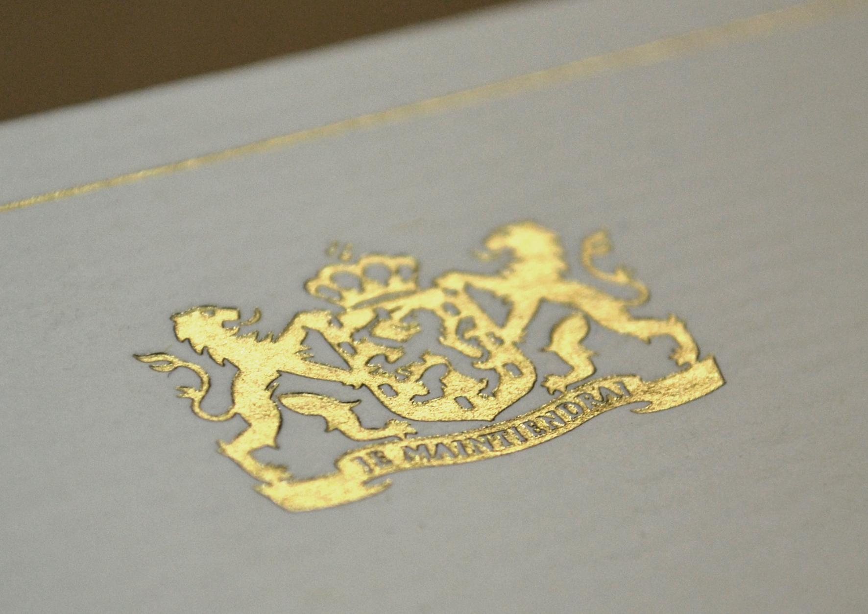 letterpress printing/ hot foil stamp