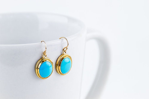 9ct Gold & Turquoise Earrings
