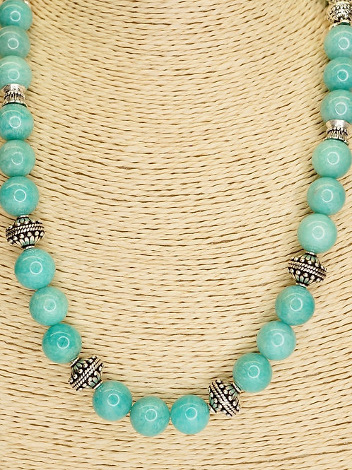 Amazonite & Sterling Silver Necklace