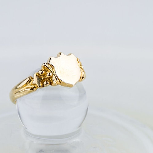 9ct Gold Shield Signet Ring
