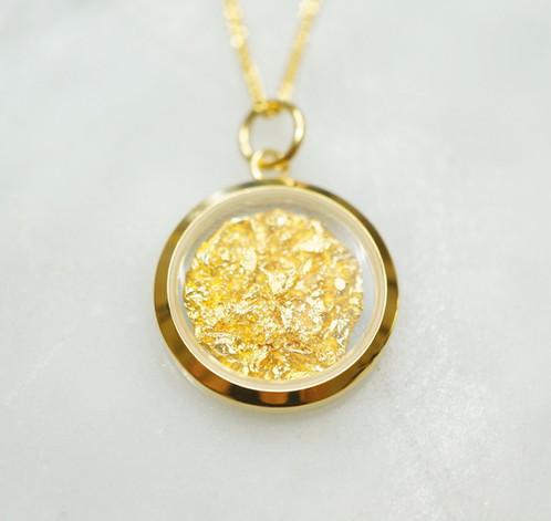 Australian gold leaf circle pendant beechworth gold australian gold leaf circle pendant aloadofball Choice Image