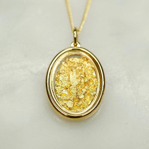Australian Gold Leaf Pendant