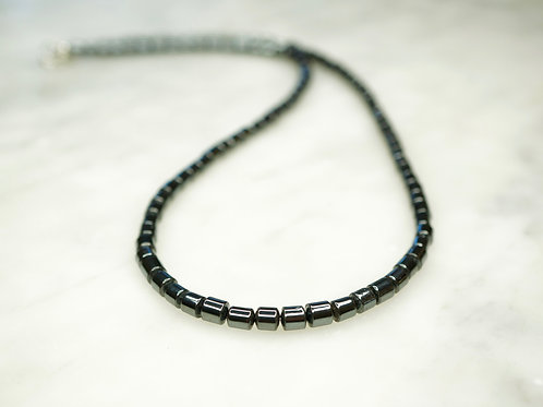 Iron Ore Drum Bead 45cm Necklace