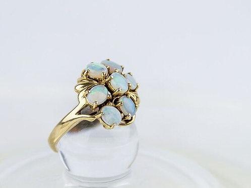9ct Gold Australian White Opal Ring