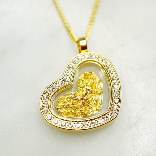 Australian Gold Leaf Diamante Heart