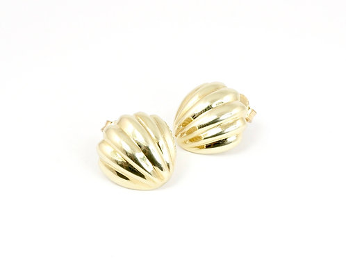Italian 9ct Gold Domed Earrings
