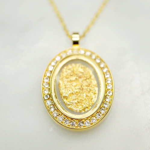 Australian Gold Leaf Diamante Pendant