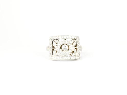 18ct Gold Deco Style Diamond Ring
