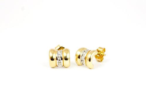Italian 9ct Gold Zirconia Earrings