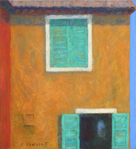 """WINDOW IN FAYENCE, PASTEL ON BOARD, 11""""X10"""""""