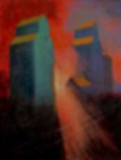 grain elevators, alberta, Paul Vincent, painting