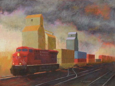 """CP 8813, PASTEL ON PAPER, 18""""X24"""""""
