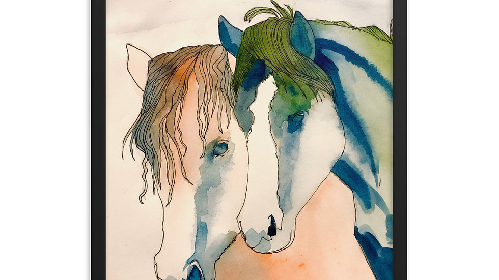 High Plains Drifters Wild Horses Framed Poster