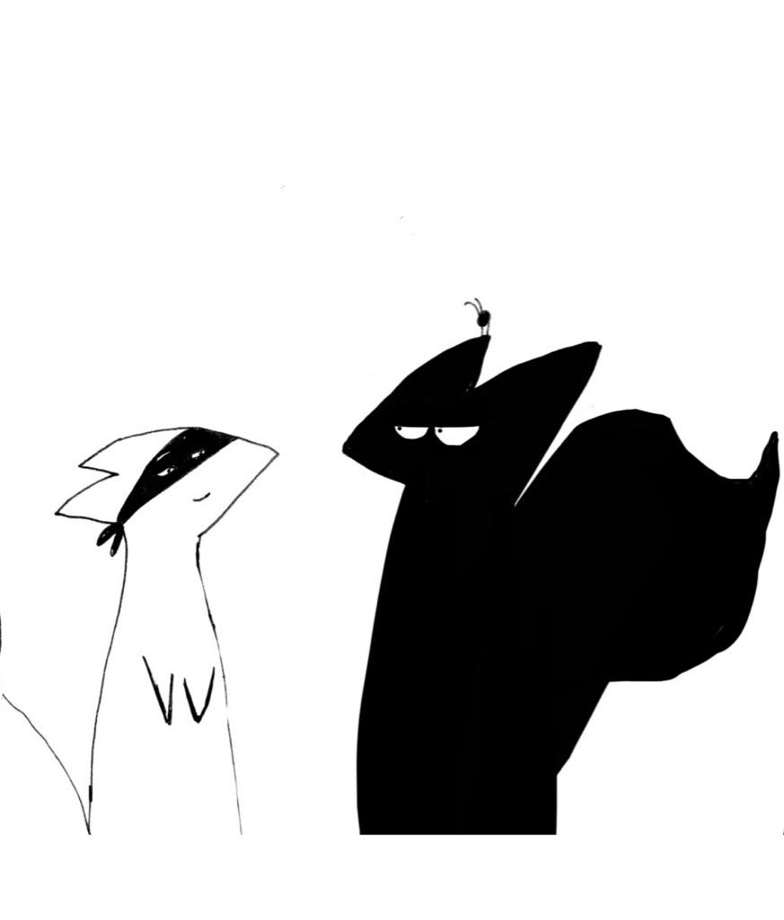 Ninja Squirrel, Flea, and Valiant