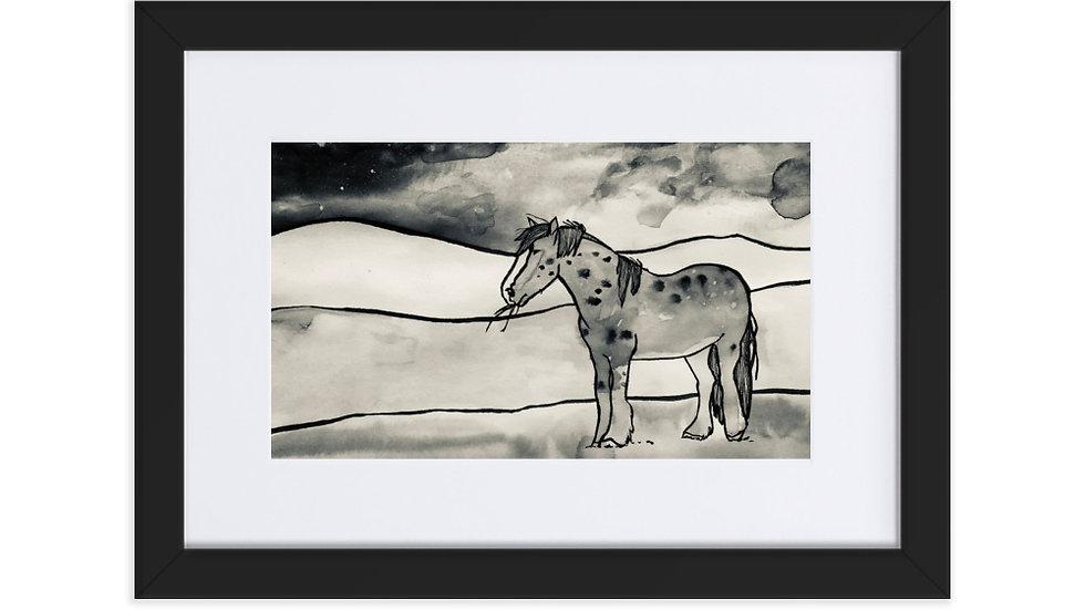 High Plains Drifters Wild Horse Framed Poster With Mat