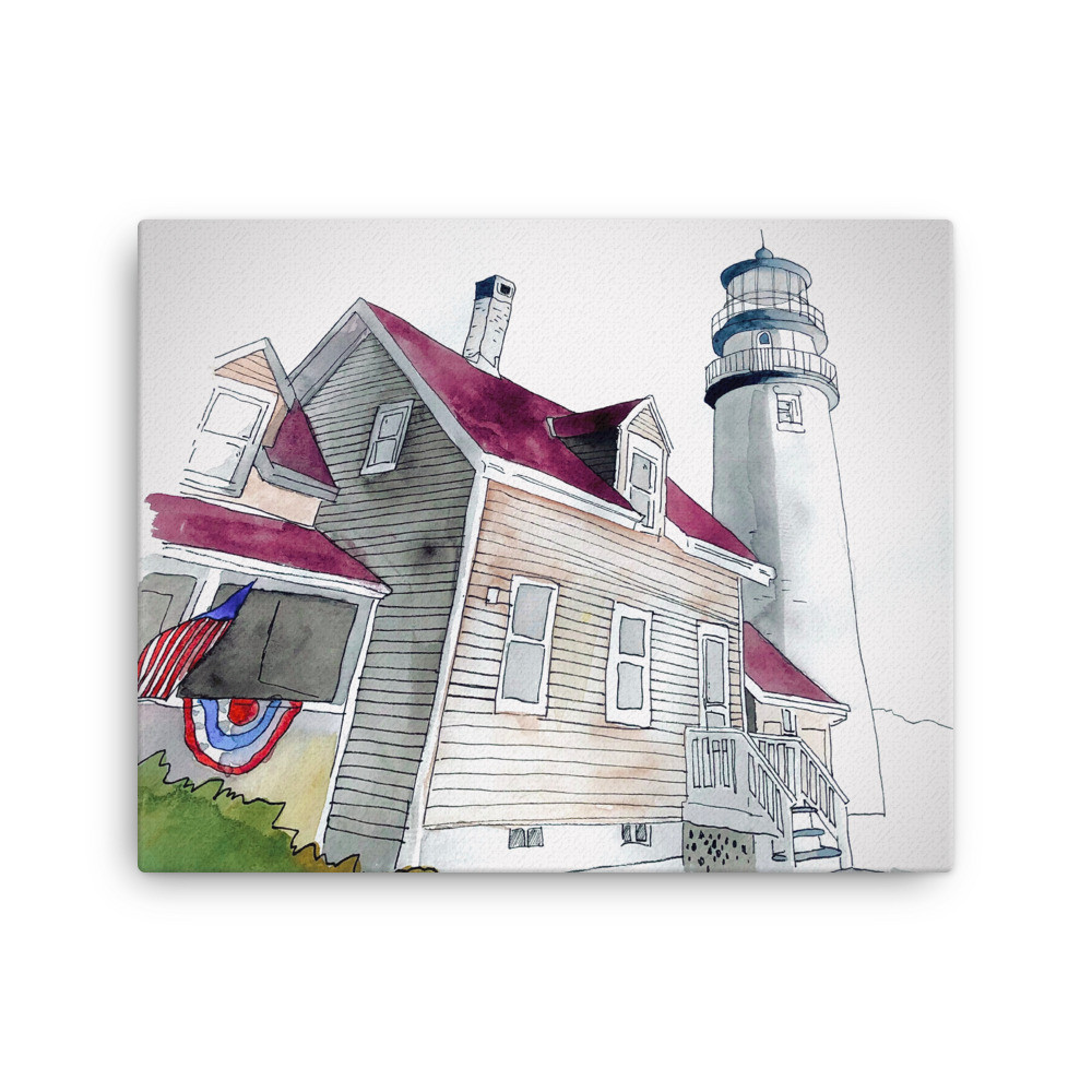 A historic lighthouse in beautiful and scenic Cape Cod Massachusetts.