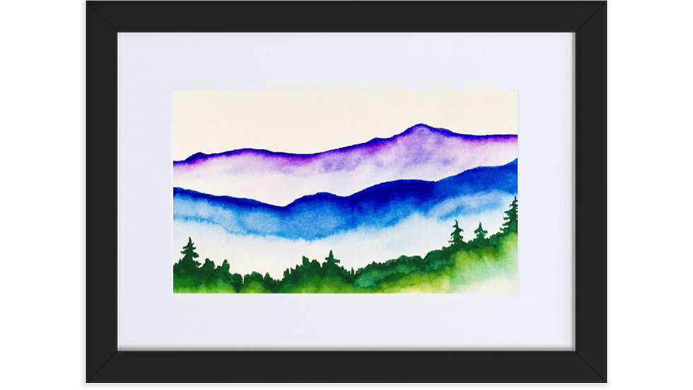 Misty Mountains Framed Poster With Mat
