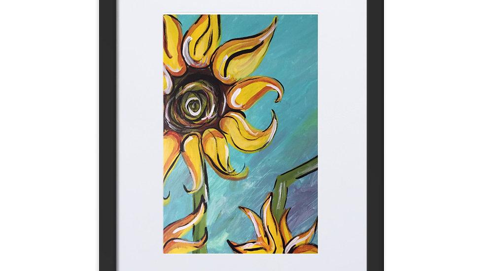 Sunflower Framed Poster With Mat