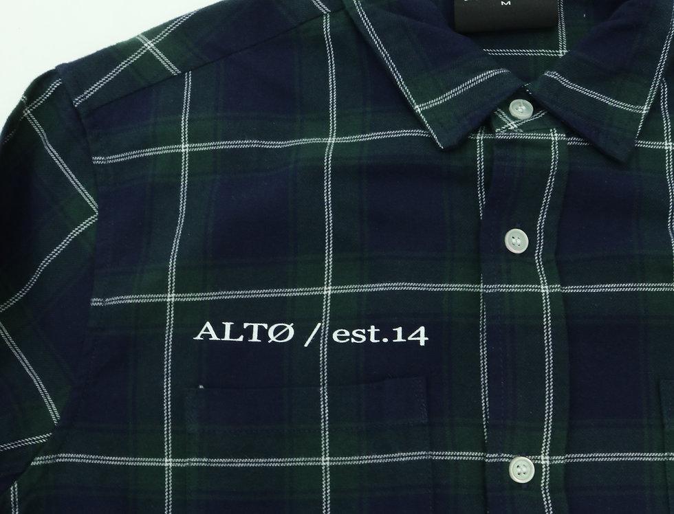 Splattered Plaid Shirt