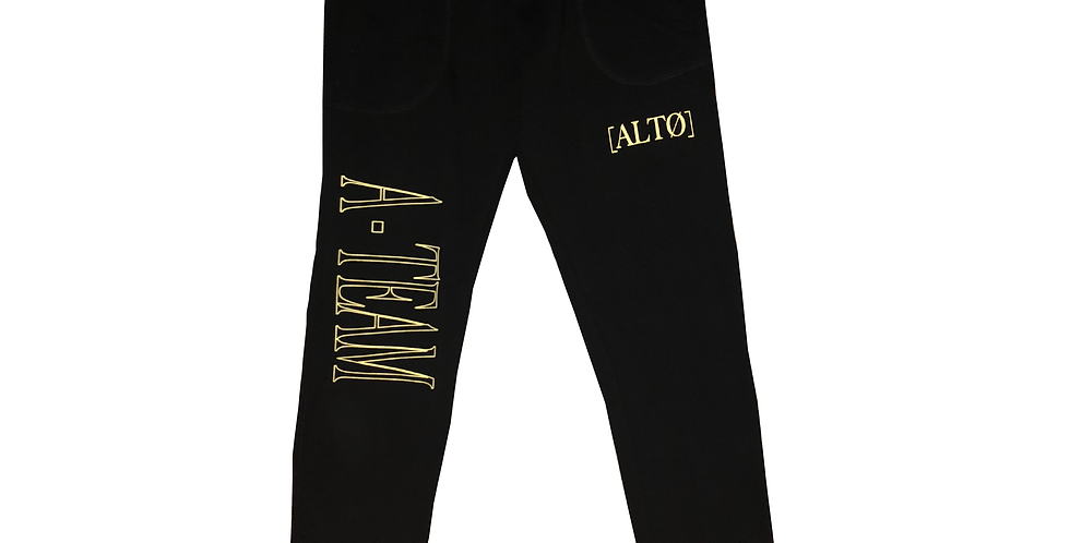 Black A-Team Sweatpants