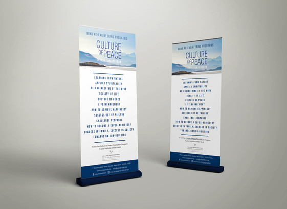 CULTURE OF PEACE ROLL-UP BANNER | CPS INTERNATIONAL