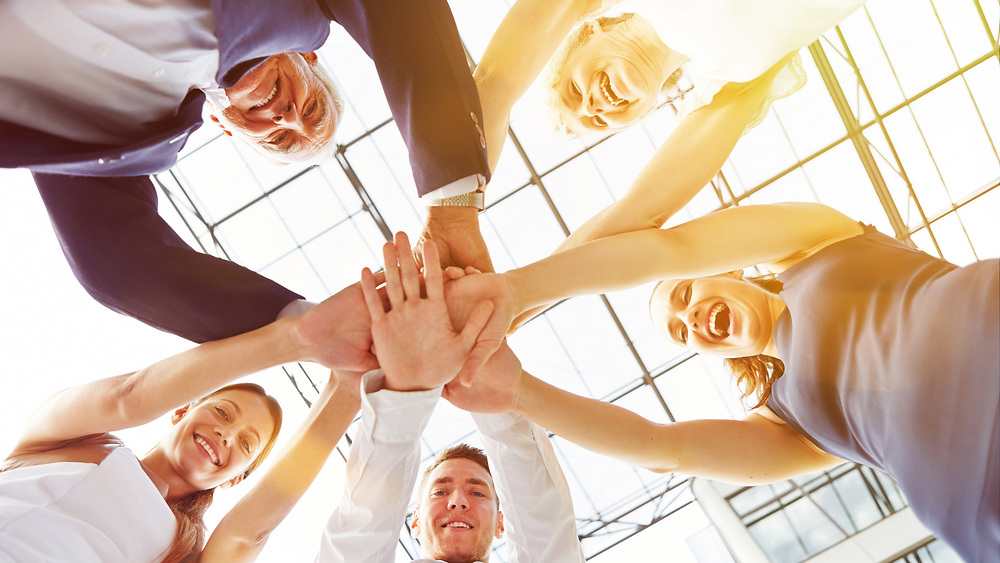 Teamspirit, Ausgewogenheit, Kooperation, Zusammenarbeit, Kommunikation