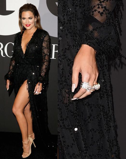 Khloe Kardashian Giorgio Armani Grammys Party 2015