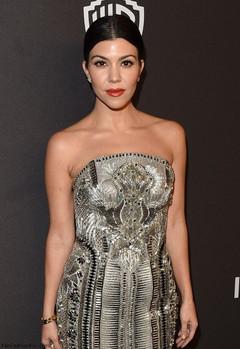 Kourtney Kardashian Giorgio Armani Grammys Party 2015 Bioseaweed 'Peaches'