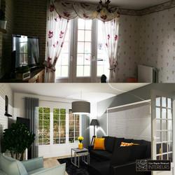 Salon Lille avant après