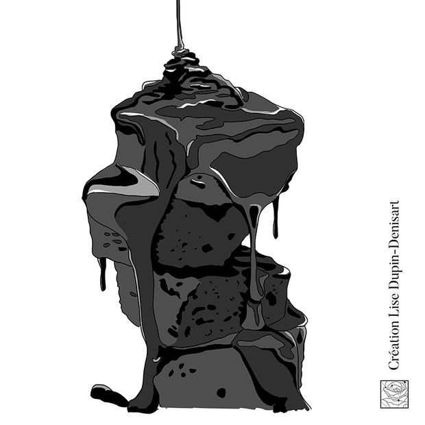Brownie dégoulinant de sauce chocolat